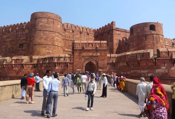fort rouge agra red fort inde entree visite inde