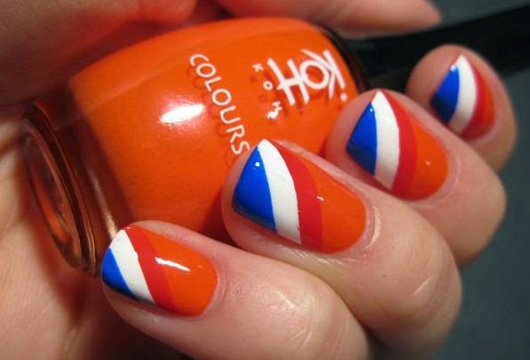 Step By Step Nail Art Designs With An Orange Tone