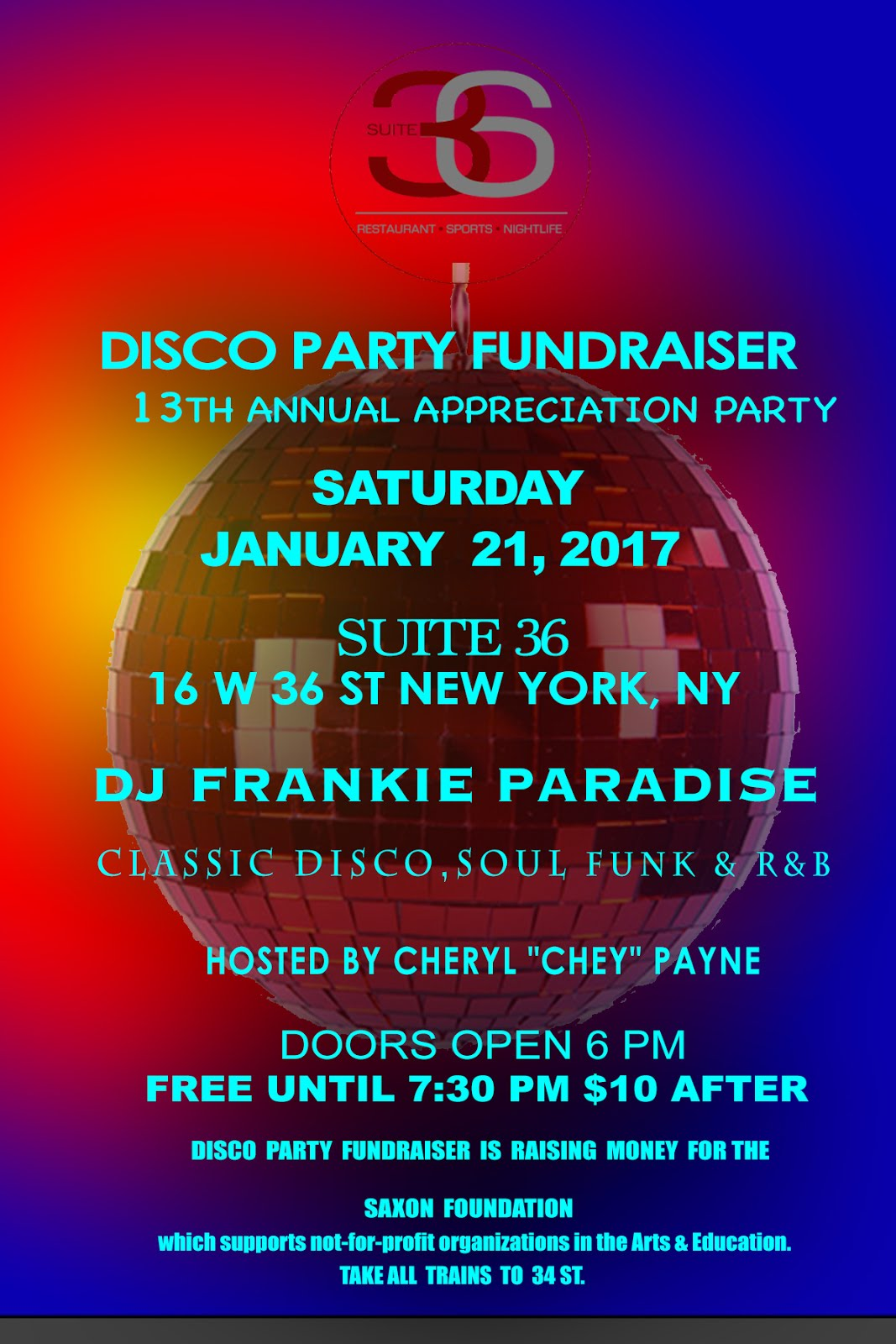 Disco Party Fundraiser's 13th Annual Appreciation Party