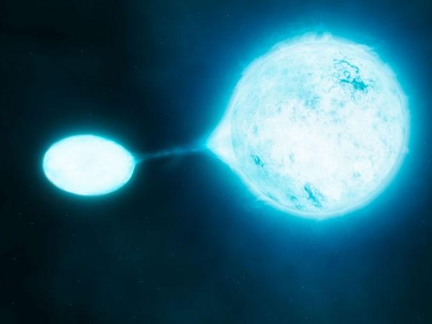 Estudo identifica estrelas 'vampiras' que roubam massa de outras