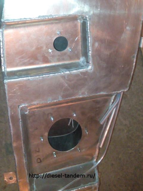 Алюминиевый бак на Паджеро 4