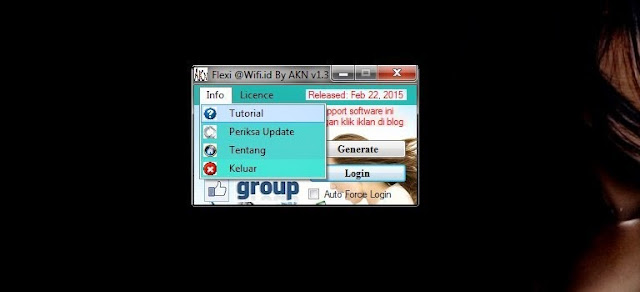 Flexi - @Wifi.id Login Generate v1.3