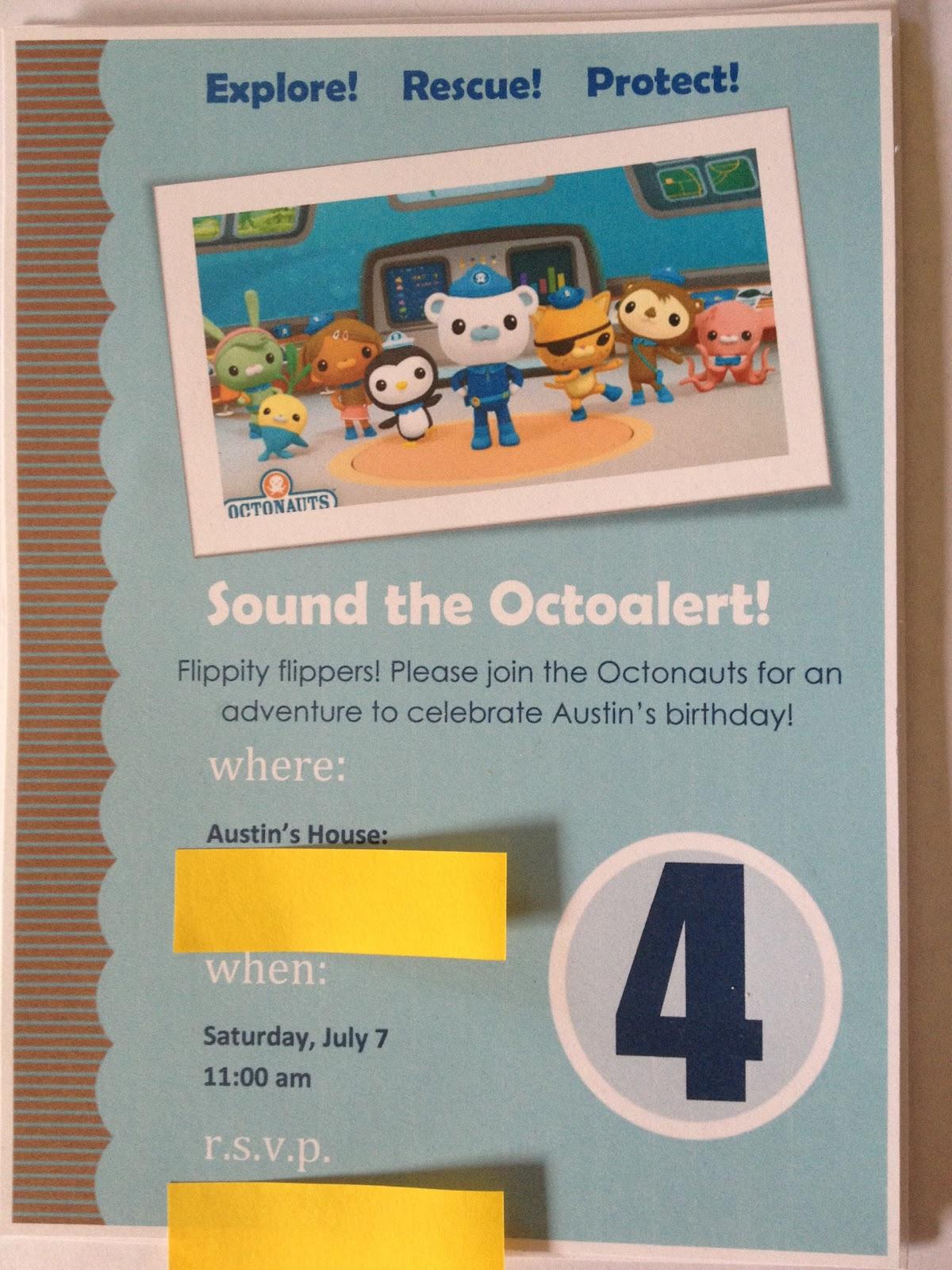 Octonauts Birthday Invites with best invitation sample