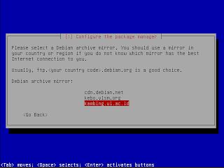 Pilihan server repositori