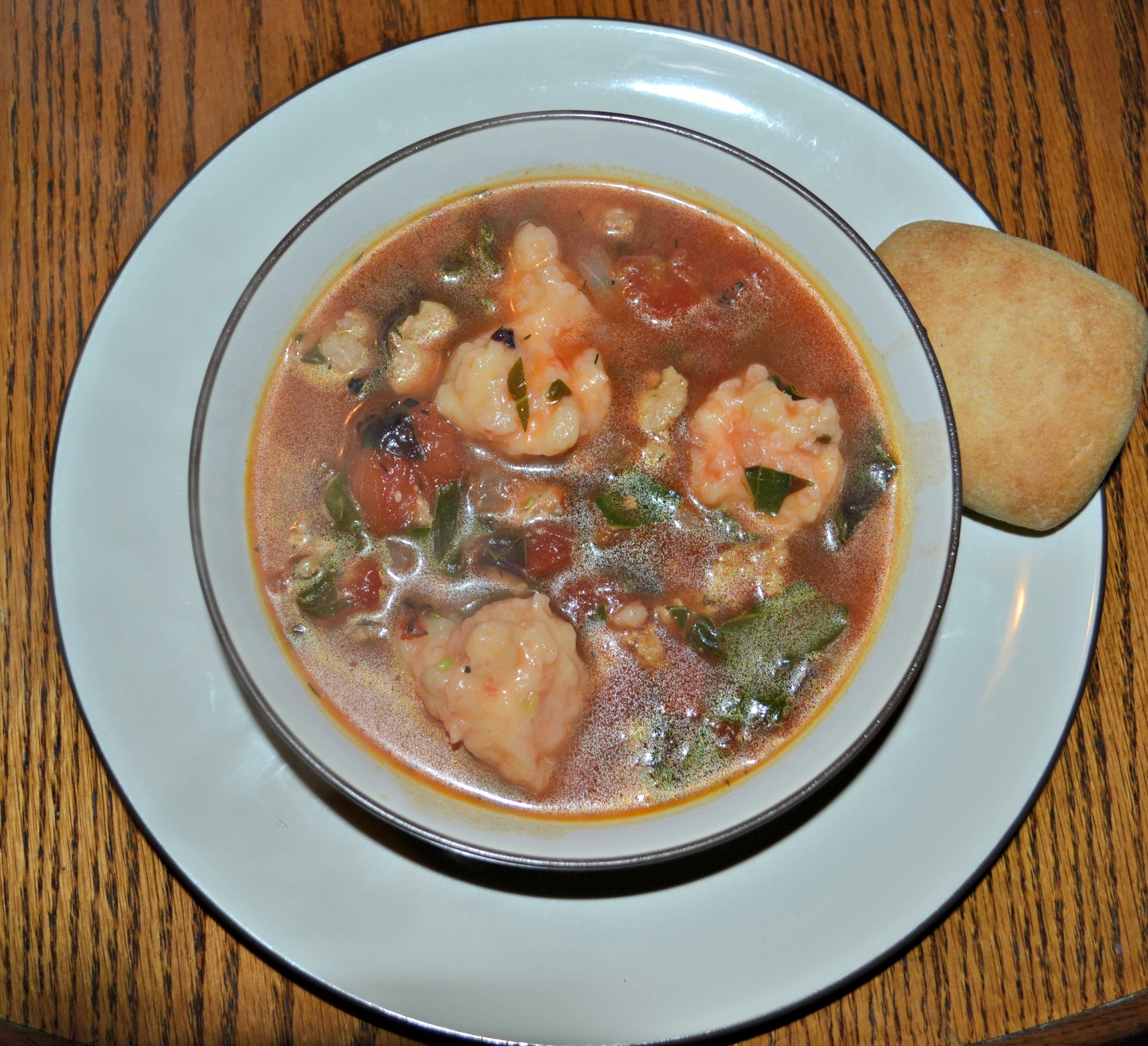 Mixed-Greens And Sausage Soup With Cornmeal Dumplings Recipes ...