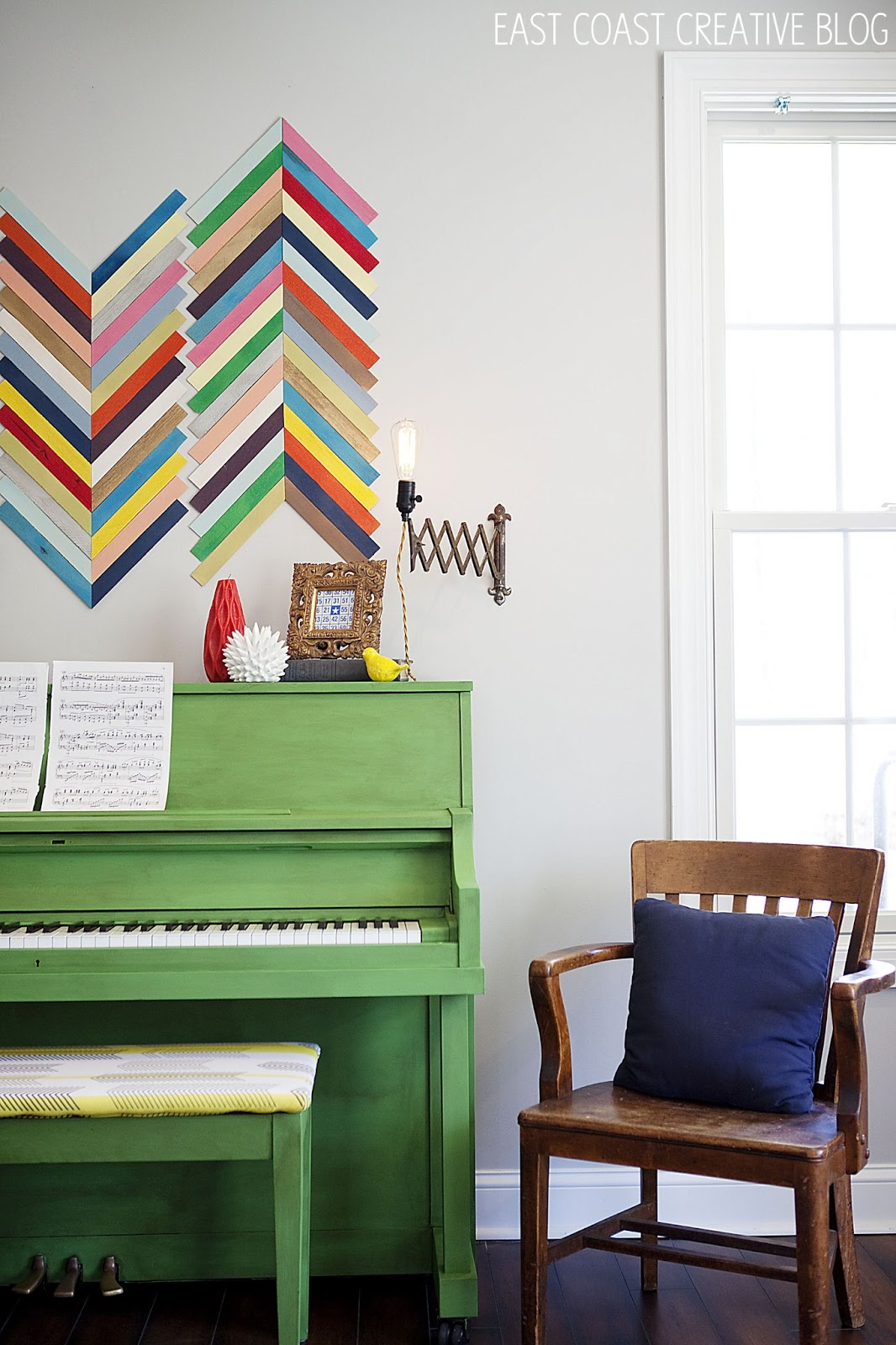 Green Painted Piano Annie Sloan Chalk Paint