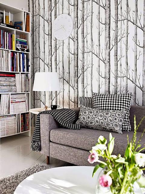 La pared del sof� , ll�nala de protagonismo
