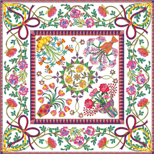 'Love Always' the sister quilt of Love Entwined 1790 Marriage Coverlet