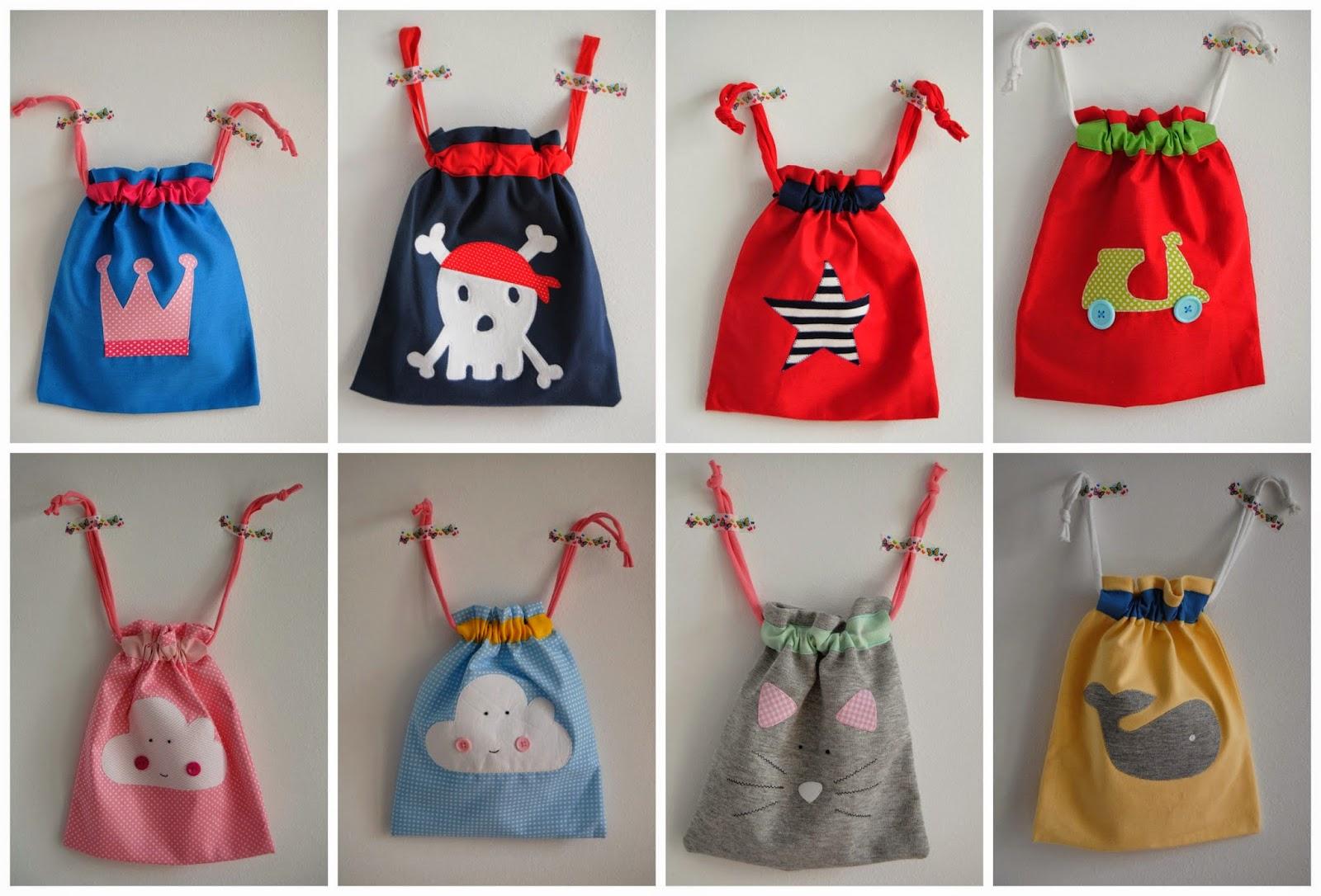 Carlotalota bolsas para la ropa del cole - Bolsas para ropa ...