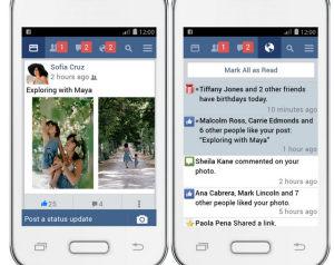 app facebook leggero