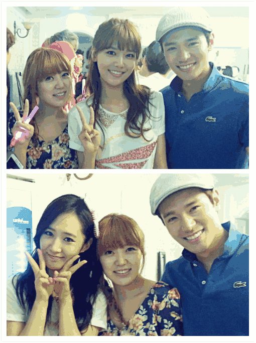 [Picture] 130608 Yuri and Sooyoung with Travys Kim and Ha Jiyoung - 2013 Girls' Generation World Tour Backstage