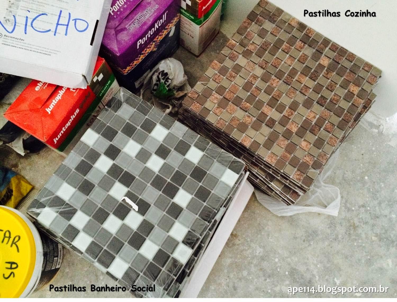 Pastilhas Banheiro Social e Cozinha #C7AD04 1500x1140 Banheiro Com Pastilhas Douradas