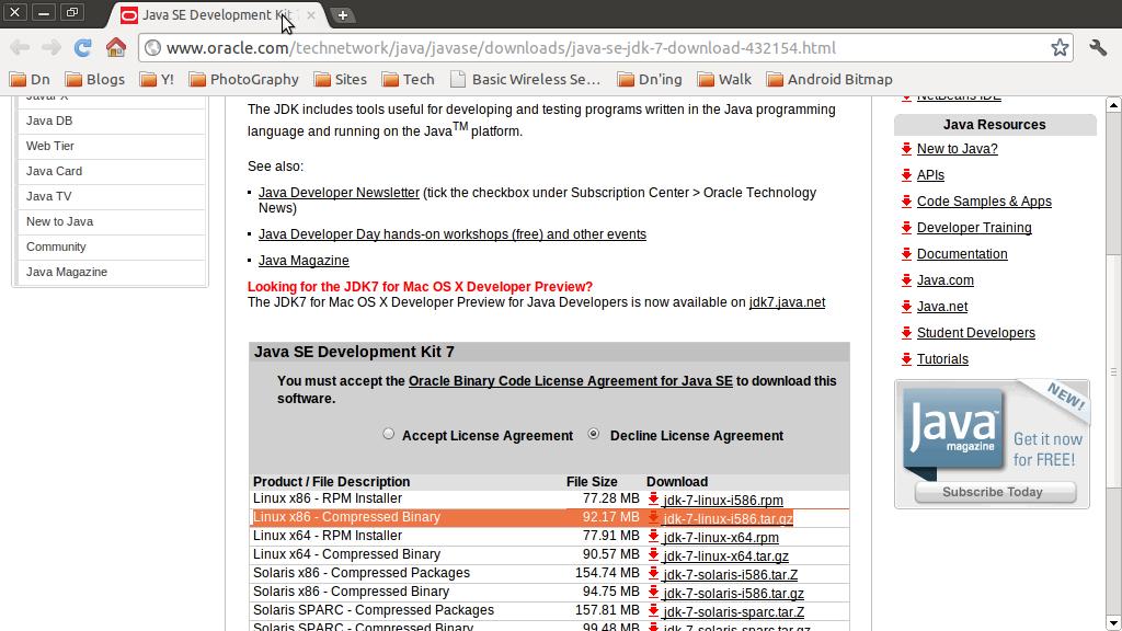download java jdk 7 linux