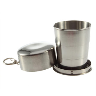 150 ml Stainless Steel Portable Outdoor Travel Camping Folding Cup G9