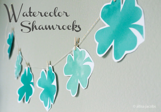 printable shamrock garland by allisa jacobs