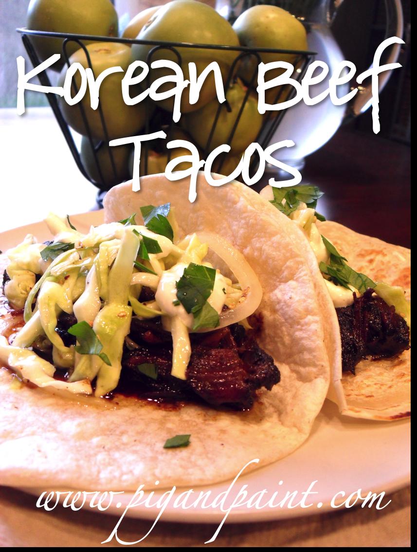 Pig and Paint: Crock Pot Korean Beef Short Ribs Tacos