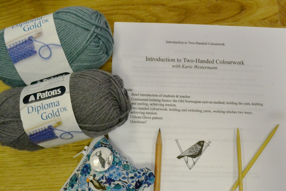 knitting class workshop karie westermann colourwork two stranded falkirk scotland