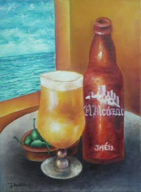 Cerveza con alcaparrones en Torre del Mar