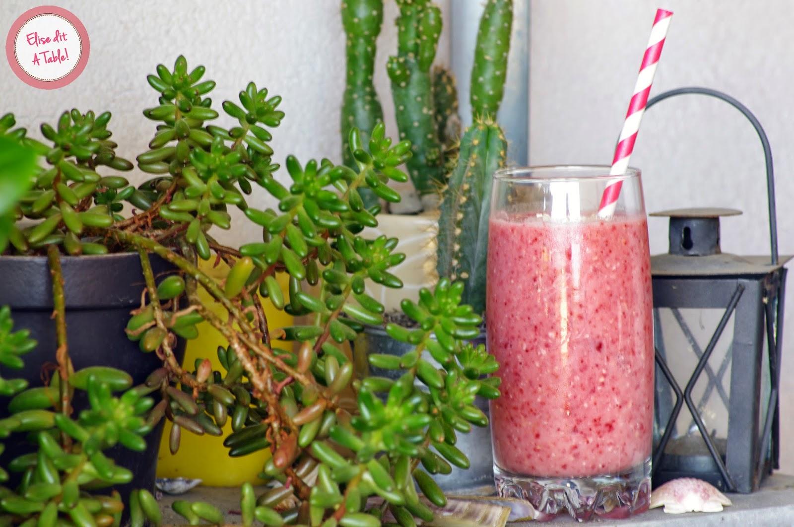 recette Smoothie fraise avoine