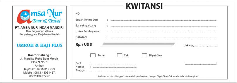 Contoh Kwitansi