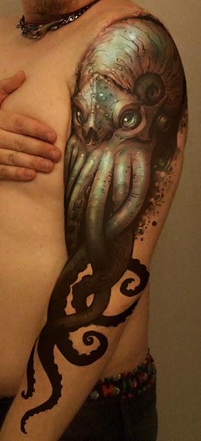 home arm tattoos realistic octopus tattoo on arm