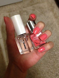 Canmake Peach Cream 46 Etude House Jelly Pop top coat review