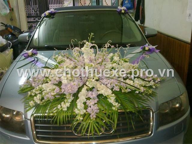 Mẫu hoa xe cưới đẹp mã XH 029