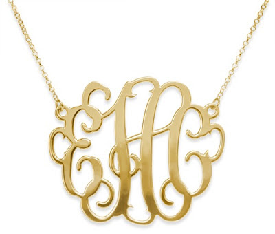gold plated XXL Monogram necklace