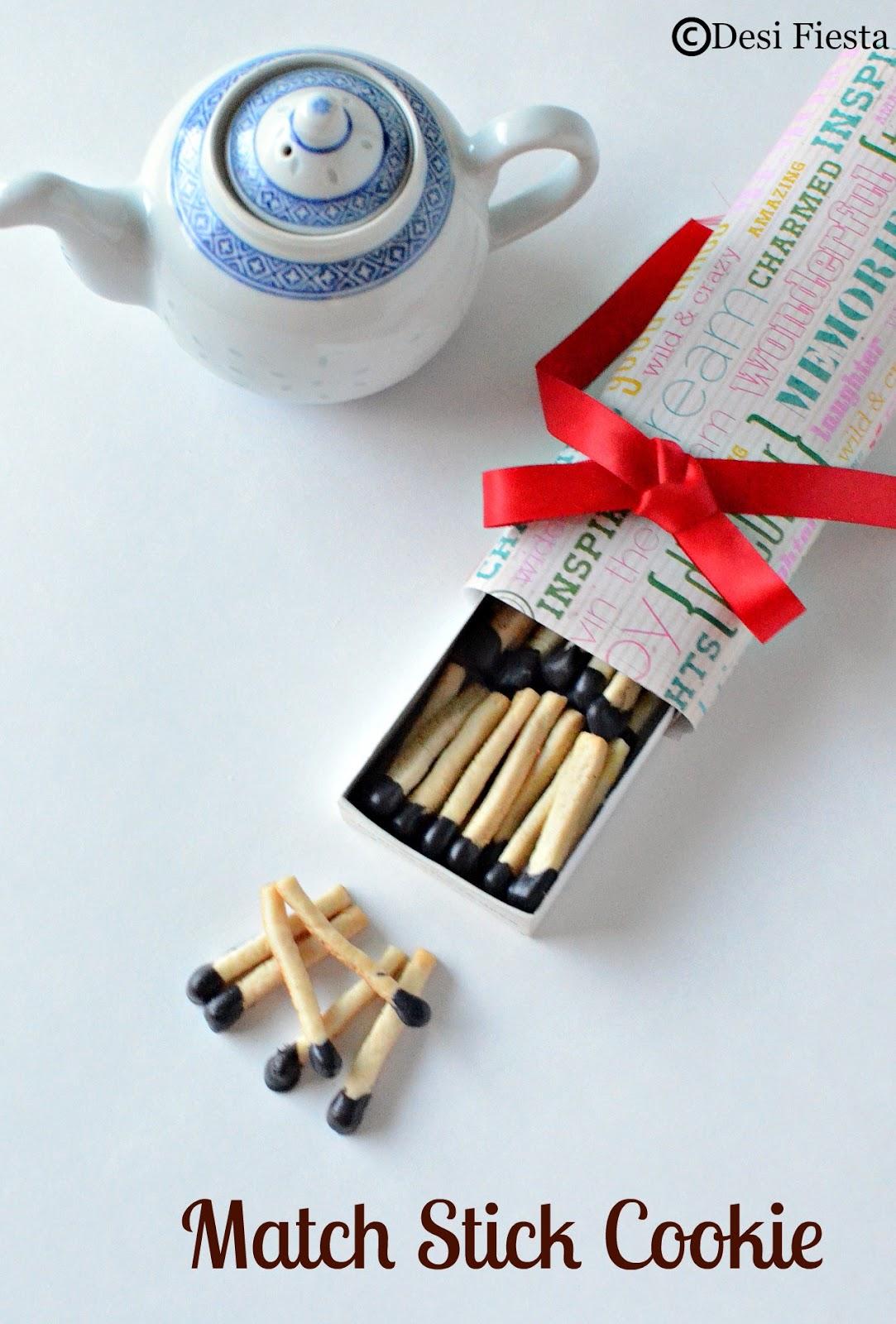 Eggless Match stick shaped Cookies