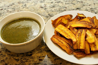 Plantain Chips and Chimichurri Sauce Recipe - jarcarfam.blogspot.com