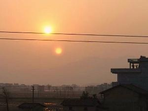 Terjawab Sudah, Fenomena Matahari Kembar di China