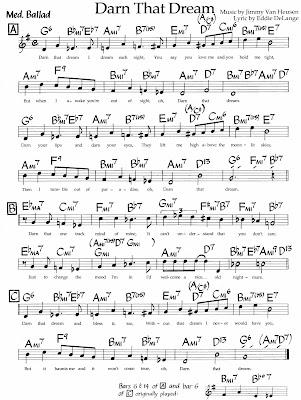 darn that dream sheet music