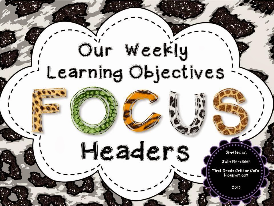 http://www.teacherspayteachers.com/Product/Focus-Wall-Headers-with-Animal-Print-theme-814780