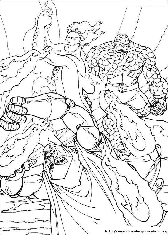 imagens para colorir do quarteto fantastico - Desenhos do QUARTETO FANTÁSTICO para colorir 63