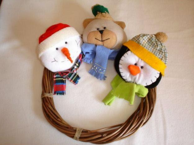 bonito muñeco de nieve
