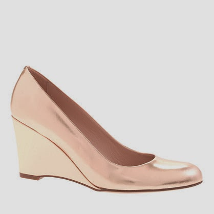 J Crew metallic Martina wedges
