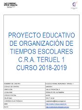 Proyecto tiempos escolares 2018/2019