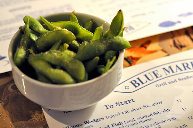 Steamed Edamame - Blue Marlin Restaurant - Bradenton Beach, FL | Taste As You Go