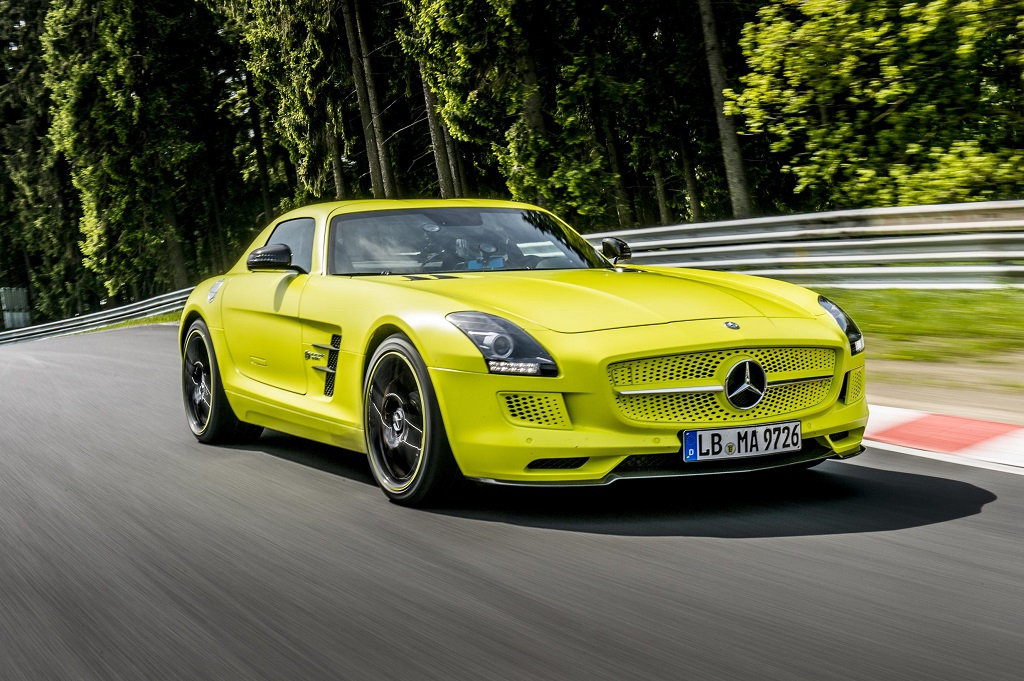 Nurburgring Lap Record for SLS AMG Coupé Electric Drive