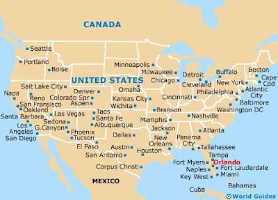 Orlando Florida mapa