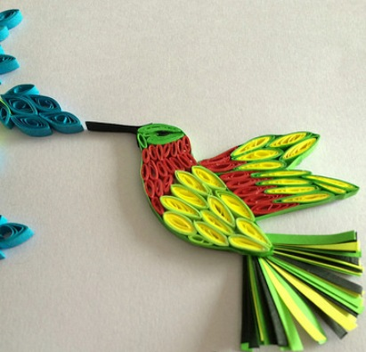 Paper quilling birds design ideas ideas arts and crafts for Arts and crafts decorating style
