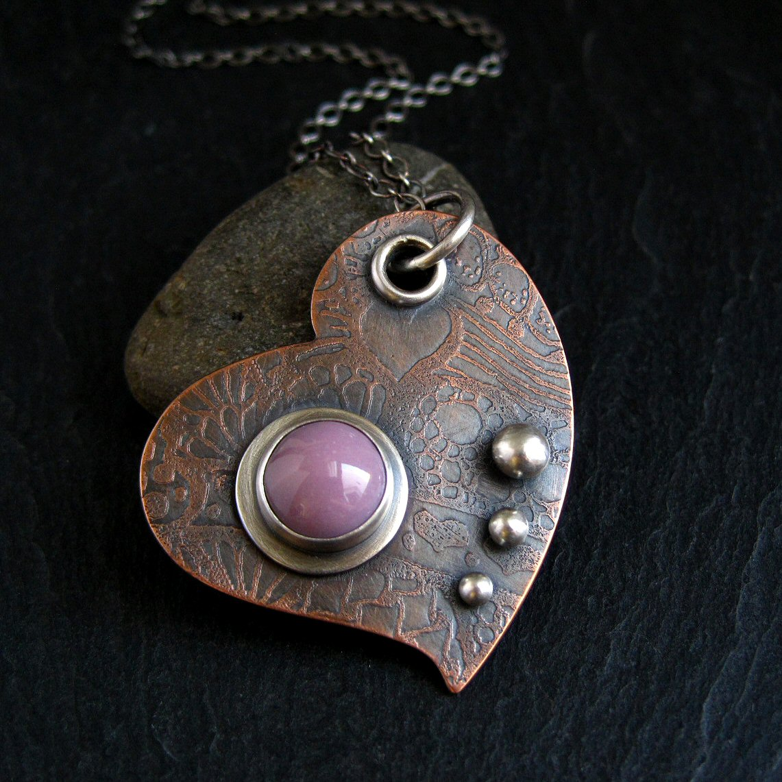 Hand Crafted Enamel House Necklace Pendant Copper Home: Using Enamel Cabochons In My Jewellery