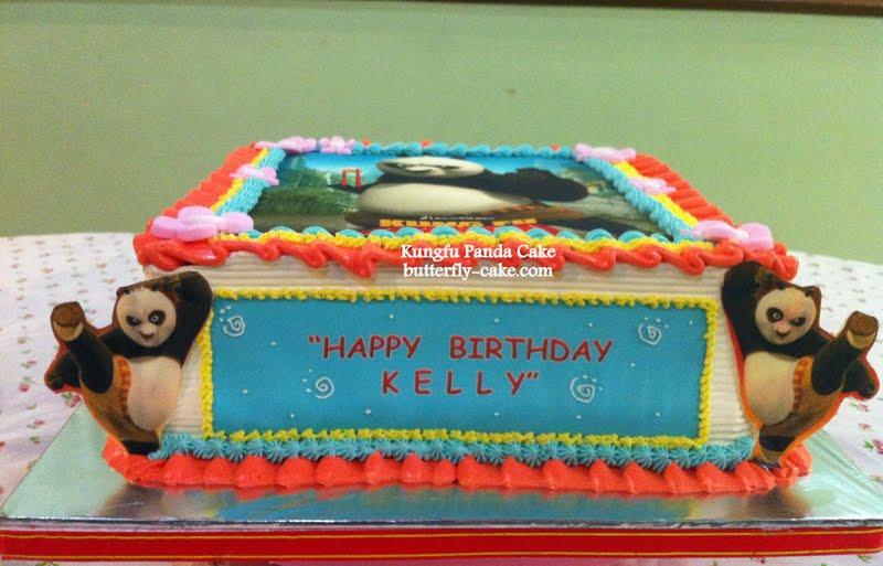 Butterfly Cake Kung Fu Panda Cake