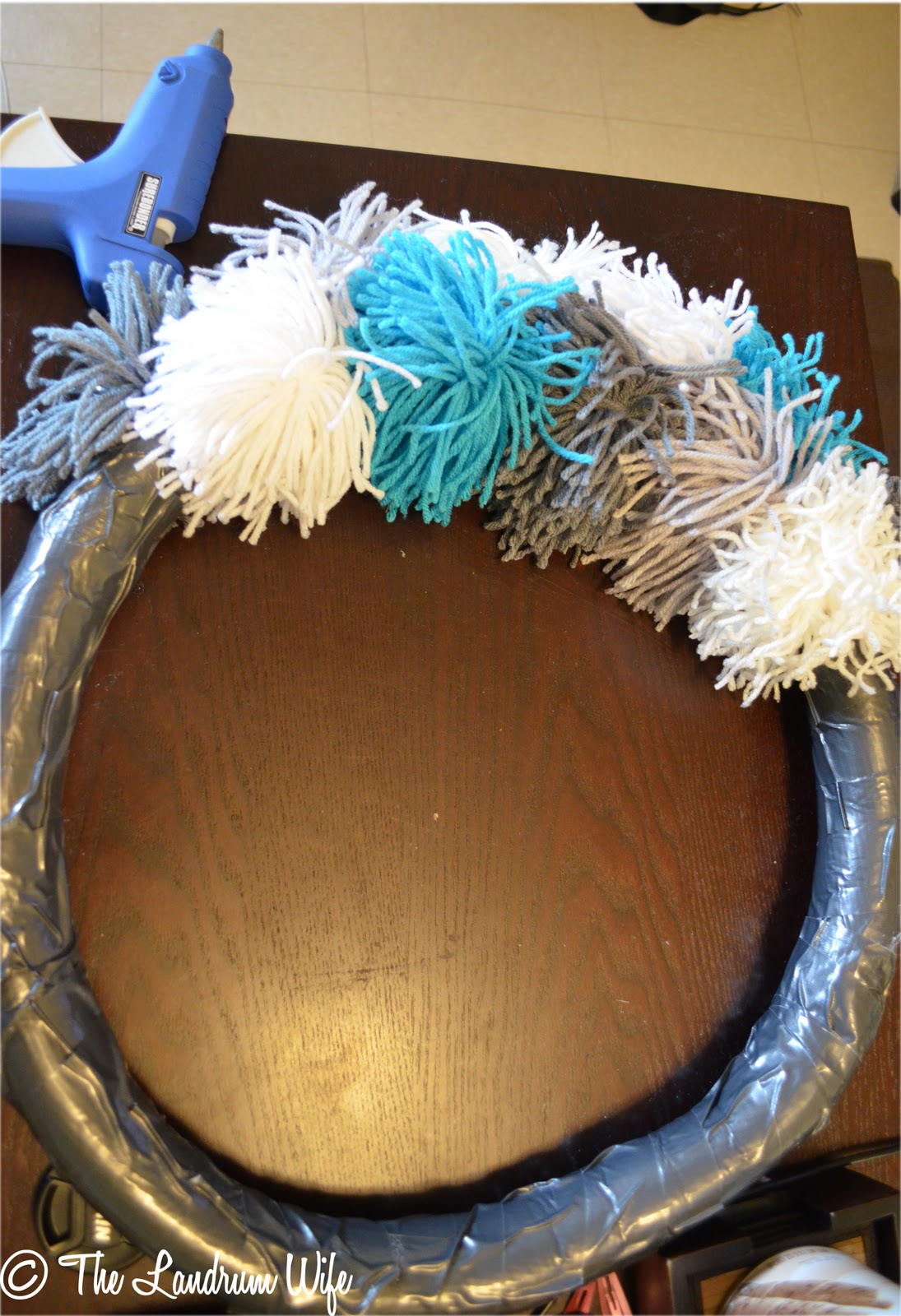 And Drink The Wild Air Diy Yarn Pom Pom Wreath