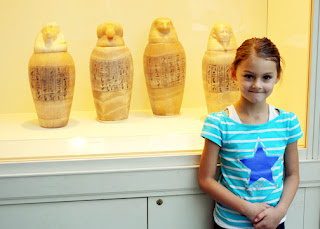 Tessa has long been fascinated by canopic jars. She recognized them instantly.