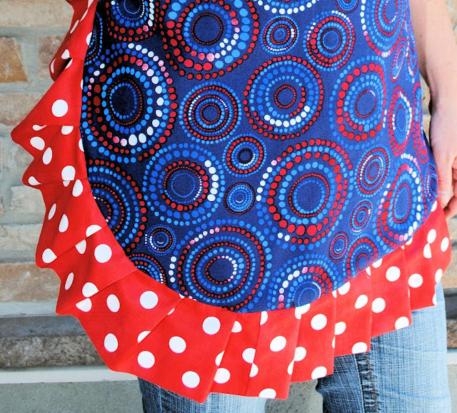 4th of July apron tutorial and pattern