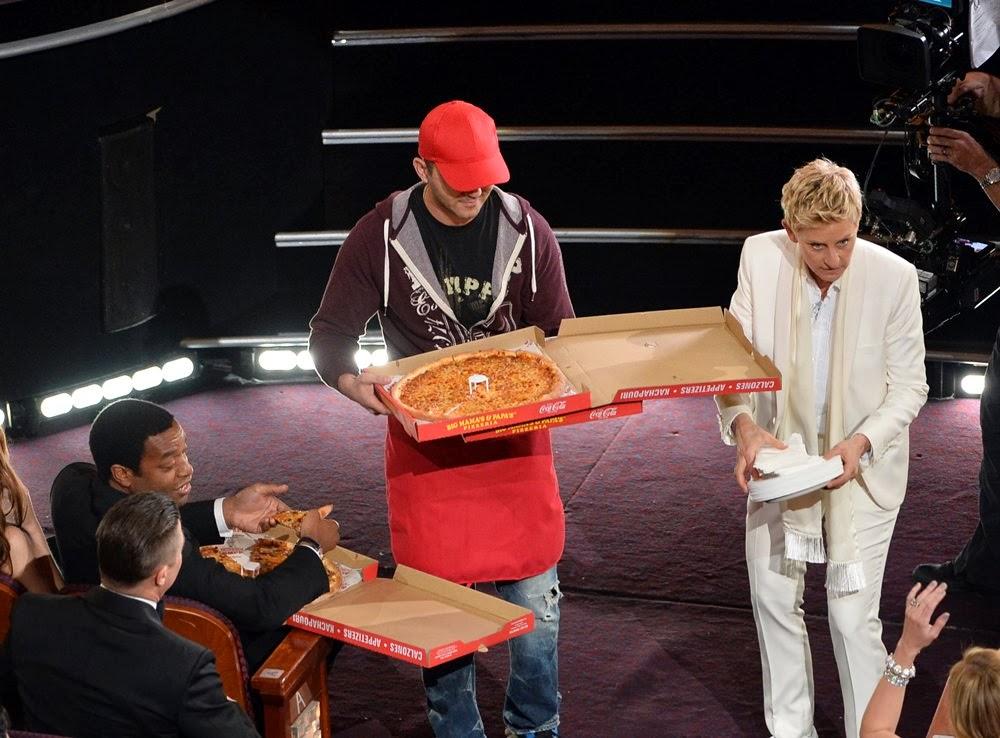 ellen degeneres pizza partisi