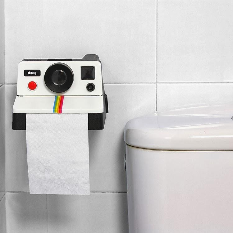 Portarollos de Papel del Water Cámara Polaroid