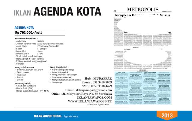 Jawa Pos Iklan Agenda Kota 2013