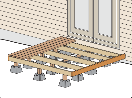 how to build a rectangular deck